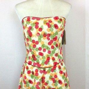 Byer Too! Strapless A-Line Dress Polka Dot